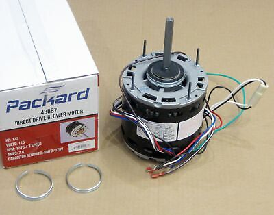Air Handler Furnace Hvac Blower Motor 43587 5-58 Diameter 12 Hp 1075 Rpm 115v