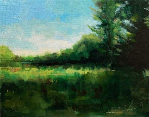 Original Oil Painting Landscape Signed Vintage Antique Style Impressionist - $75.00