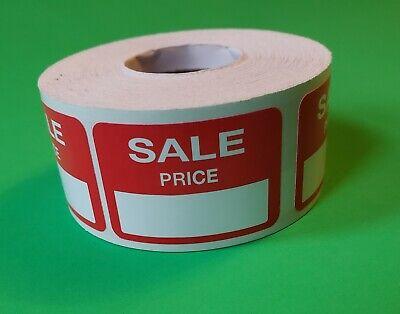 500 Self-adhesive Sale Price Red Rectangular Retail Labels Sticker Merch Tag