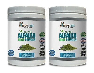 energy drink mix - ORGANIC ALFALFA JUICE POWDER - antioxidant complex 2 Can 16oz ()