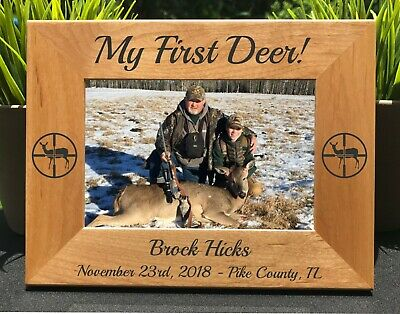 Deer Hunting // First Deer // Photo Frame // Picture Frame // Custom -