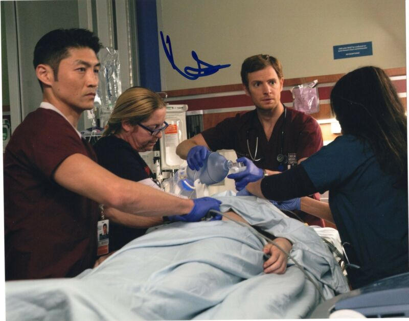 Brian Tee signed 8x10 Photo w/COA Chicago Fire Med P.D. Ethan Choi