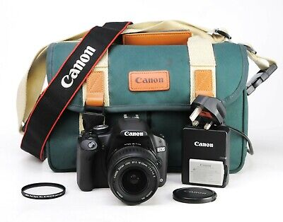 Canon EOS 500D DSLR Camera + EF-S 18-55mm II Zoom Lens Kit Battery & Charger EXC