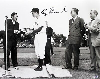 President George H W Bush  Signed Auto 16X20 Photo Babe Ruth Psa Dna Graded 10