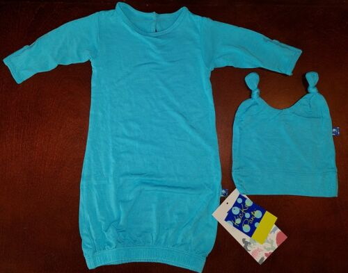 Kickee Pants Confetti Infant Boy Gown & Double Knot Hat New