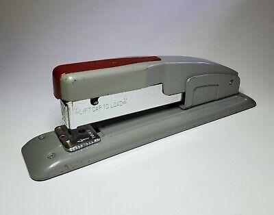 Vintage Swingline 400 Stapler Desktop Grey Scarlet Heavy Duty