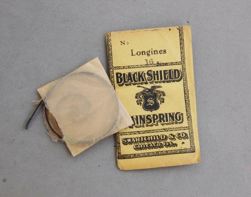 Longines Watch Part Mainspring Size 16 Swarthchild Chicago Antique Repair New