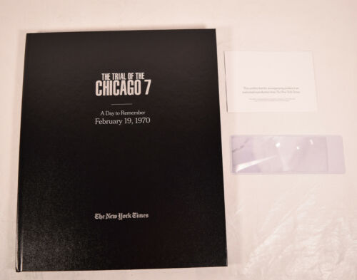 The Trial of The Chicago 7 Promo HC New York Times Articles Book Aaron Sorkin Ne