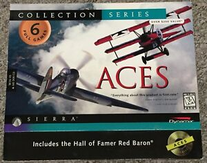 Aces Collector's Edition 6 Games Red Baron Pacific Deep Europe