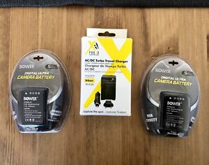 Nikon Camera Batteries + Travel Charger