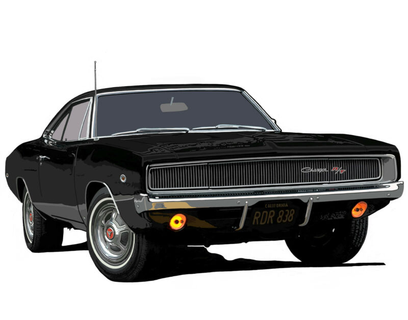 Dodge 1968 Charger canvas art print by Richard Browne