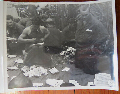 - WWII CBI PHOTO - SORTING MAIL FOR 5307 COMP UNIT PROV. 1944