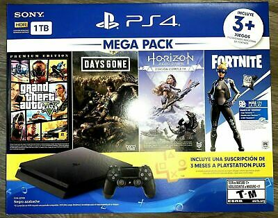 PS4 PlayStation 4 1TB Hits 6 Bundle GTA 5+Days Gone+Horizon Zero+Fortnite 500V