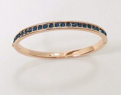 Ted Baker Jewellery Clemara Bangle Bracelet Rose Gold Blue Crystal Brand New Tag