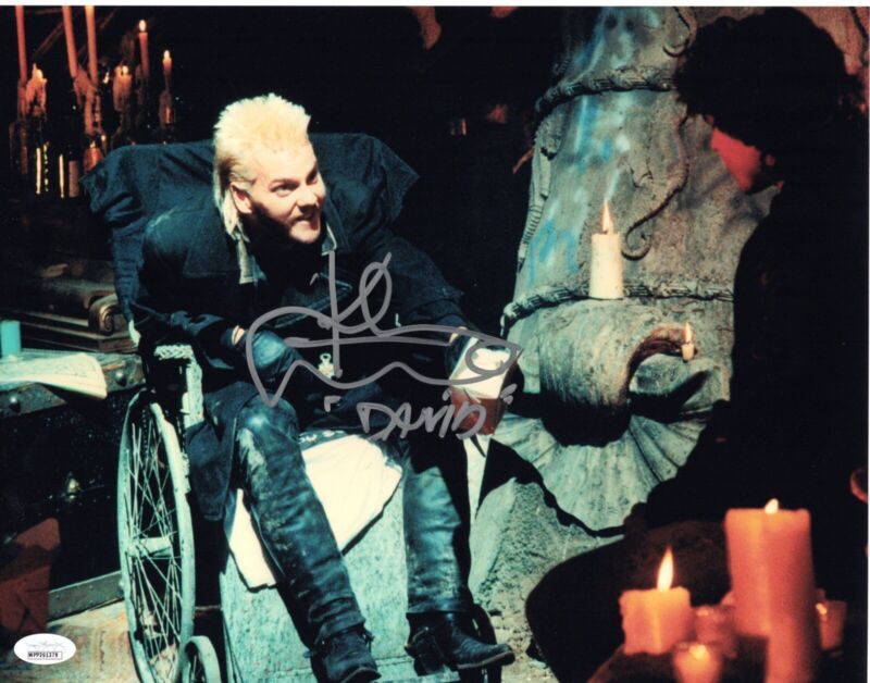 KIEFER SUTHERLAND signed 11x14 Photo THE LOST BOYS Movie Vampire David JSA