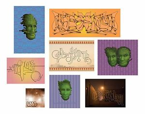 GRAFFITI STREET ART Stickers 8-pack from Baltimore Artist LabSynth Quality Vinyl