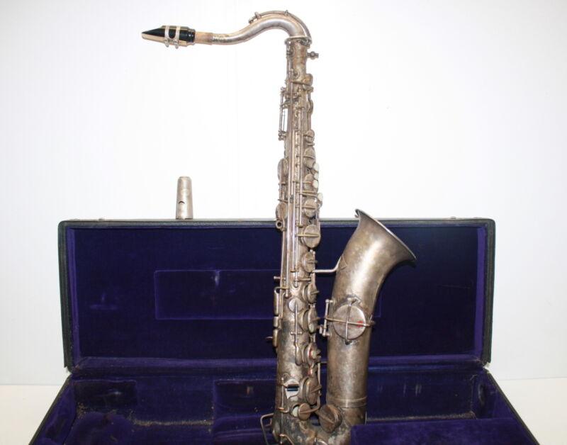 Indiana Band Instrument Company (Martin) 1930-31 Tenor Saxophone w Case