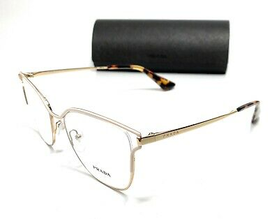 Prada VPR 54U SL4-1O1 Gold Women's Authentic Eyeglasses Frame 53-17