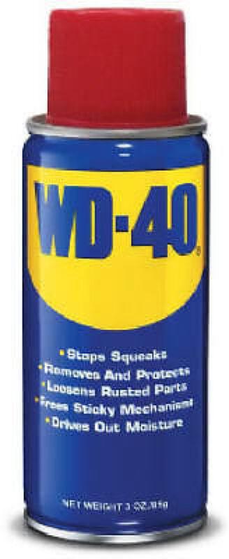 WD-40 Spray Lubricant Aerosol Can Remove Crayon Sticker Rust - 3 oz 079567490005