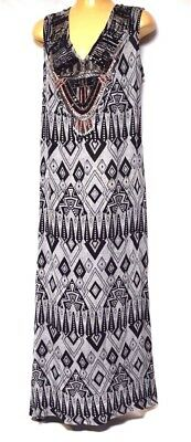 TS dress TAKING SHAPE VIRTU plus sz XXS / 12 'Fifth Ave Maxi' beaded NWT rp$170!