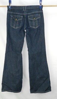 Women's Calvin Klein Jeans Wide Leg Stretch Dark Blue size 8 Calvin Klein Wide Leg Jeans