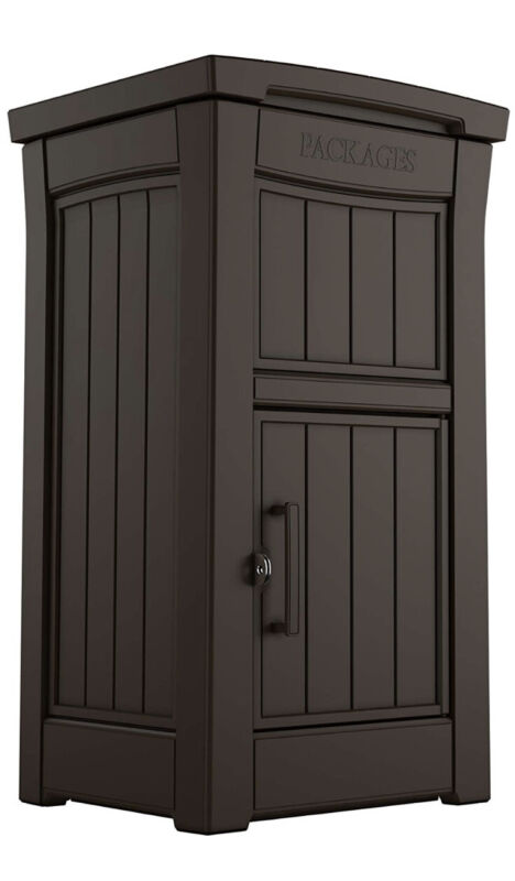 Keter Parcel Delivery Drop Box Lockable Secure Storage Compartment Keep Package