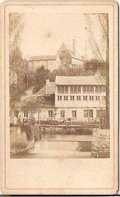 CDV photo Historische Ansicht Creteil - 1870er