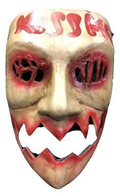 UK The Purge Glasfaser Kiss Me Film Kostüm Maske Kinder Erwachsene Halloween ()