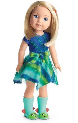 NEW - AMERICAN GIRL DOLL Wellie Wishers CAMILLE Blonde Hair Blue Eyes - NIB EUC