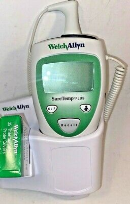 Welch Allyn 690 Suretemp Thermometer W Wall Holder 4 Oral Probe 25 Covers