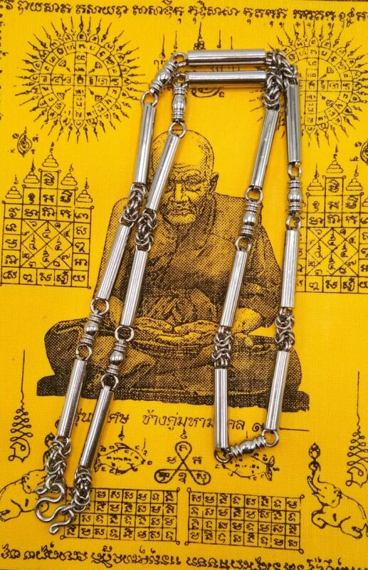 NEW THAI BUDDHA AMULET NECKLACE PLAIN STAINLESS CHAIN HOOK PENDANT MAGIC POWER