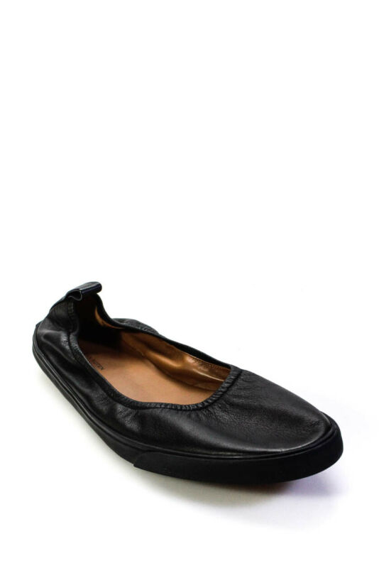 Dries Van Noten Mens Leather Slip On Low Top Loafers Black Size 45