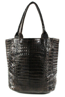 Nancy Gonzalez Womens Crocodile Tote Bag Brown