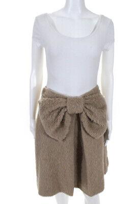 Kate Spade New York Women's Knee Length A-Line Skirt Wool Beige Size 6