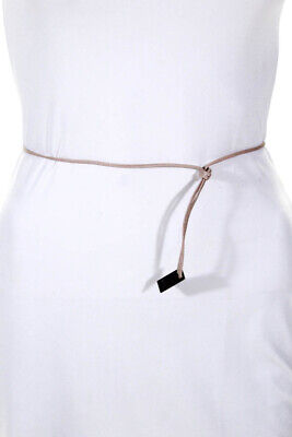 Gucci Womens Skinny Cord Belt Nude Leather One Size