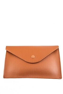 David Yurman Leather Envelope Small Clutch Handbag Brown