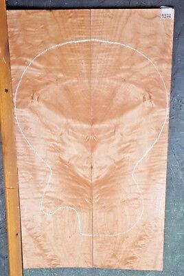 QUILTED CURLY MAPLE #7522 Luthier Solid Body Guitar Top Set 23 X 13.625 X .375 for sale  Shipping to Canada