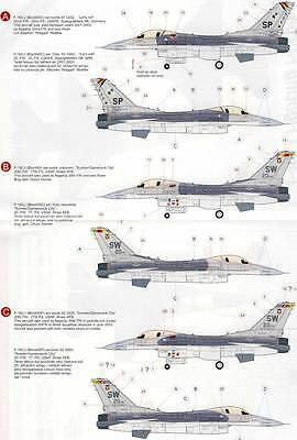 Eduard Decals F-16CJ Fighting Block 50 Falcon 4 Versionen - 1:32 Modell-Bausatz