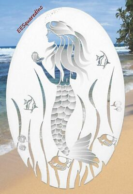 Mermaid OVAL Static Cling Window Decal 4x6 inch for Glass Doors & Mirrors