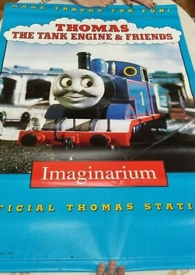 "RARE Thomas The Train Imaginarium Promotional Toy Store Display Vinyl 30"" X 44"""