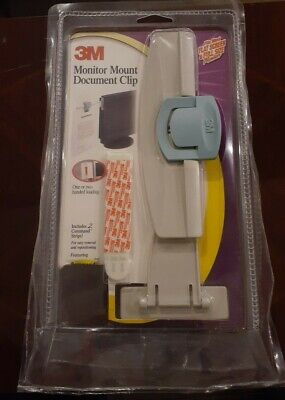 3m Monitor Mount Document Clip Wadhesive