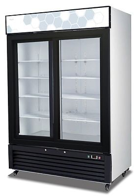 Migali C-49rs Upright Reach In Two 2 Sliding Glass Door Cooler - Warranty