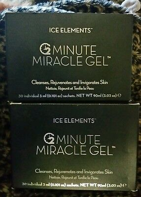 Ice Elements 2 Boxes 2 Minutes Miracle Gel Exfolianting Scrub Packs Sachets   60
