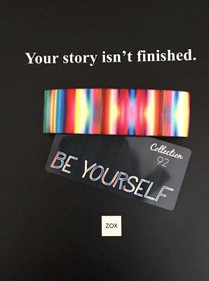 ZOX Strap BE YOURSELF Reversible Wristband - Rare Sold Out - Dr Seuss Quote