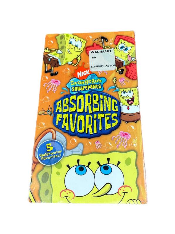 Nickelodeon SpongeBob SquarePants VHS  Absorbing Favorites 2005