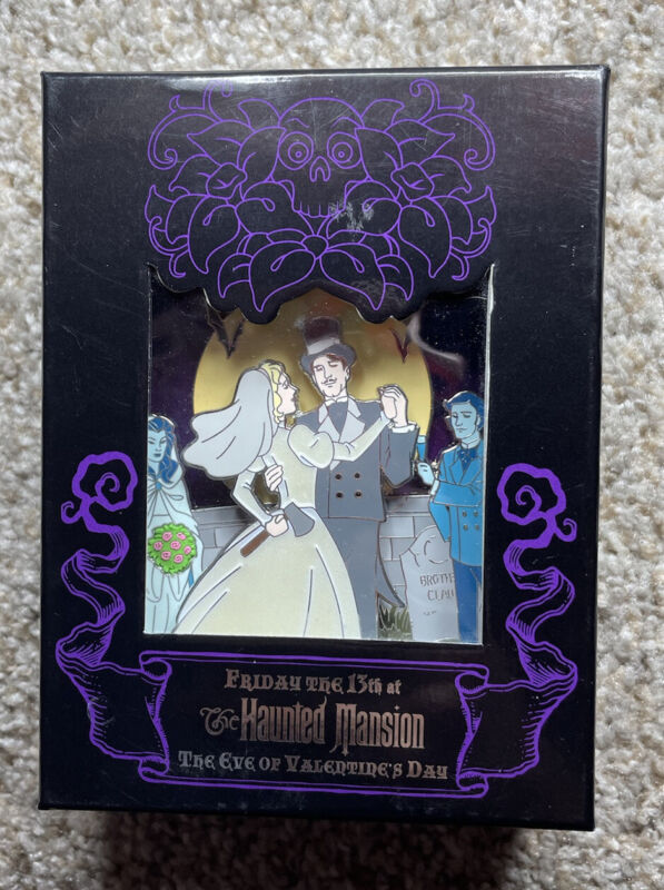 WDW Haunted Mansion Friday the 13th Eve of Valentines Last Dance Jumbo Pin 68121