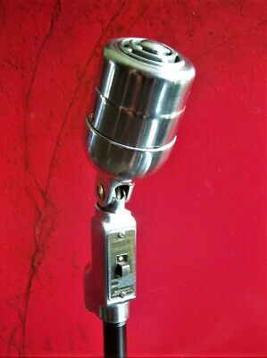 Vintage 1940's Electro Voice 630 dynamic microphone deco w stand prop display