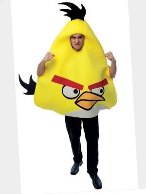 Angry Birds Yellow Bird Adult Costume One Size Fits Most O/S Rovio Halloween