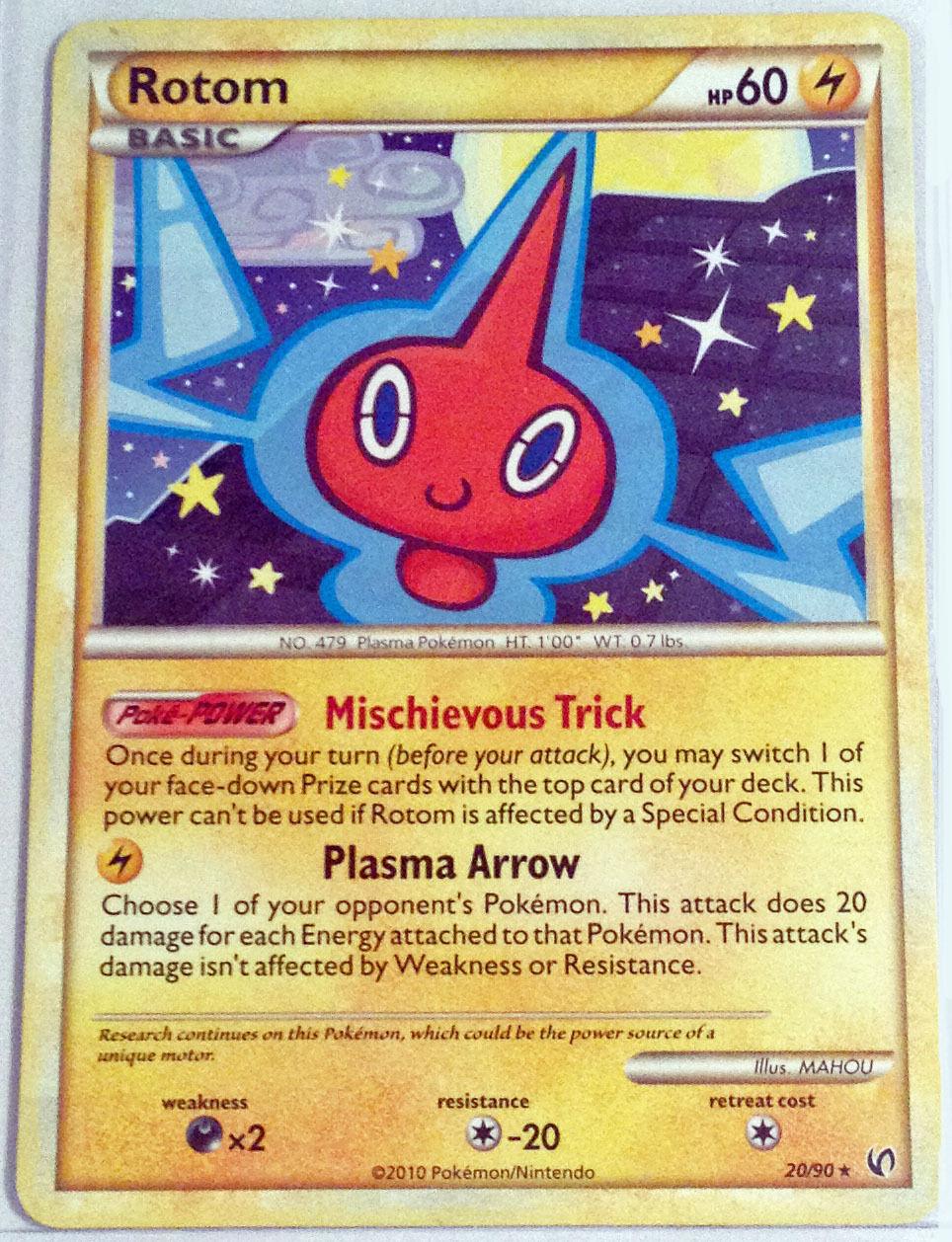 Pokemon Cards ROTOM 20//90 HGSS UNDAUNTED SET RARE E
