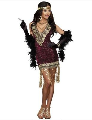 Sophisticated Lady Flapper Womens Halloween Costume - Size Large](Sophisticated Halloween)